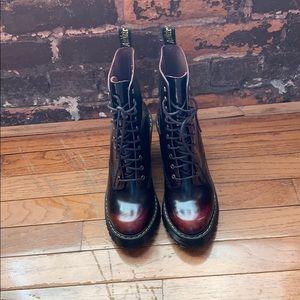 Dr Martens Kendra burgundy boots US7